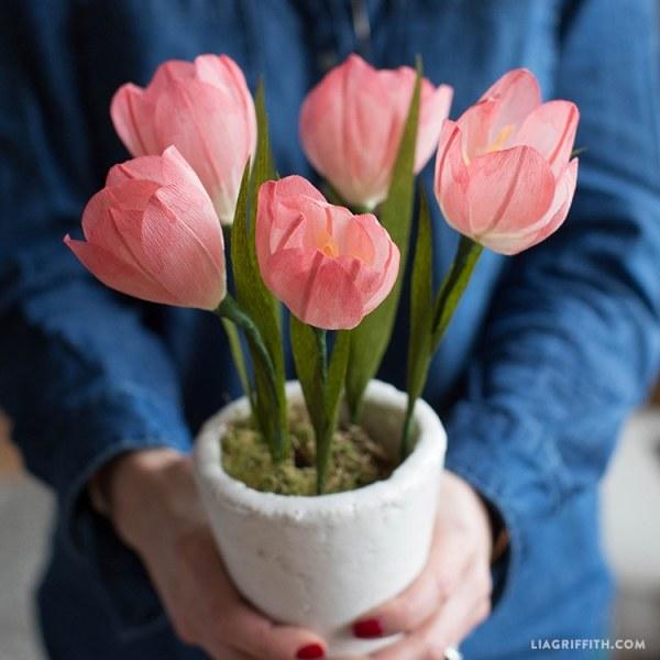 Как сделать тюльпаны из бумагм