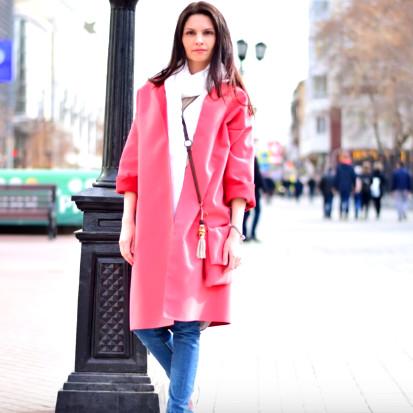 Пальто без выкройки за 1 час