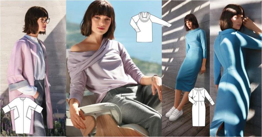 Все модели журнала Бурда июль 2017 с техрисунками
