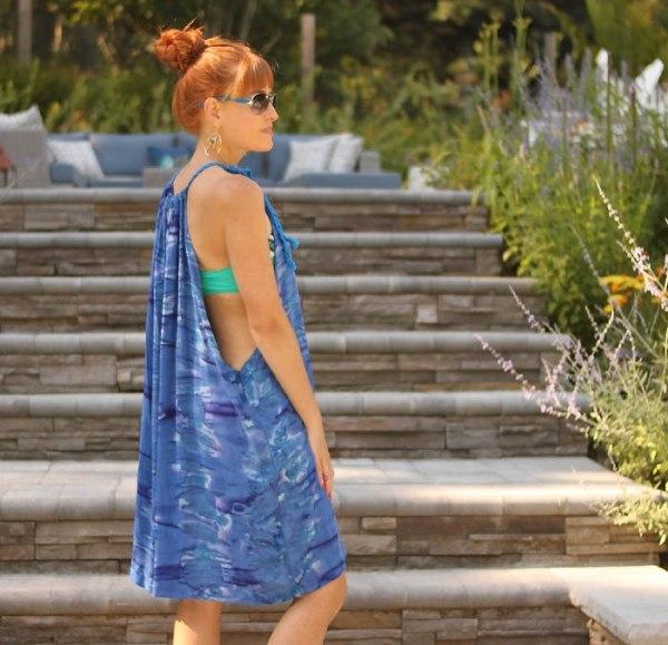 Простая выкройка пляжного платья
