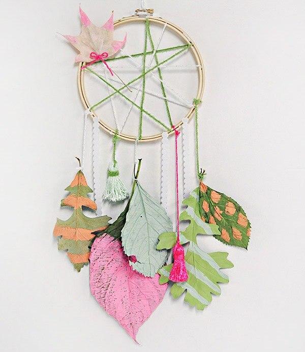 7 идей для творчества с осенними листьями