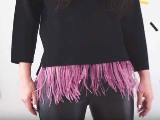 4 идеи украшения простого пуловера