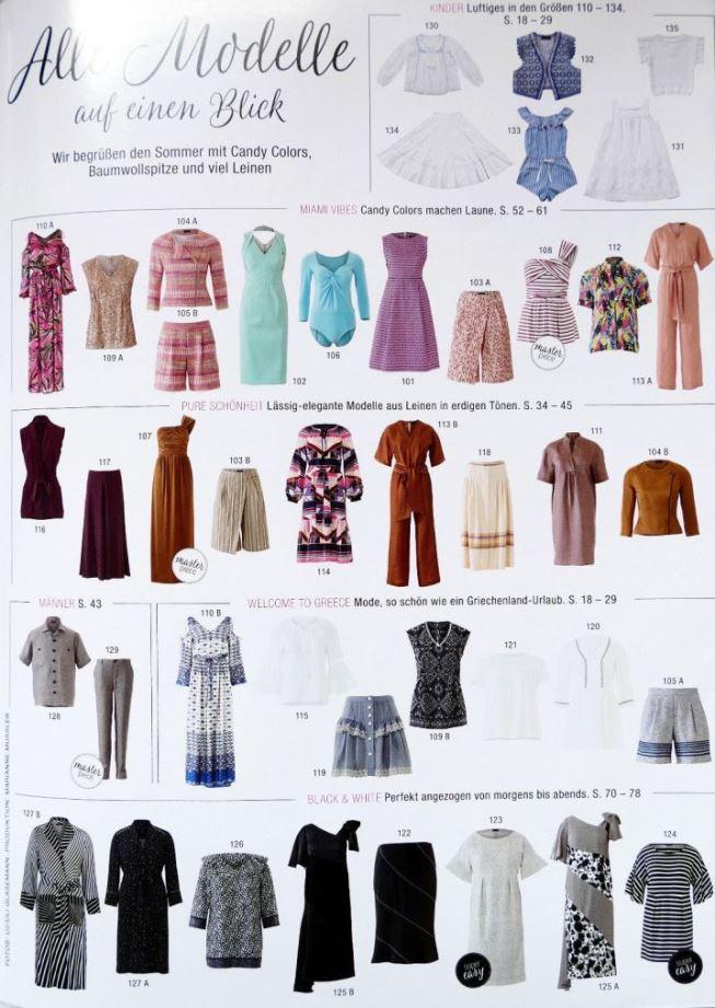 Парад моделей Бурда июнь 2018: