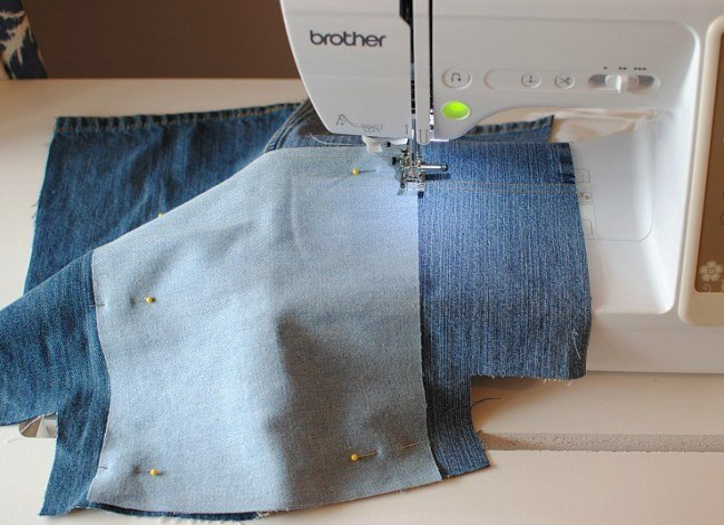 Летняя сумка из джинсов
