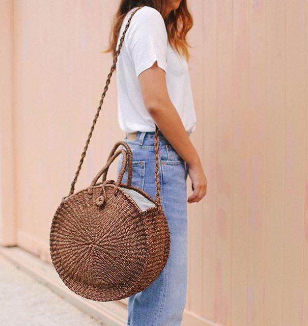 Плетеная круглая сумка. Купить или сделать своими руками?