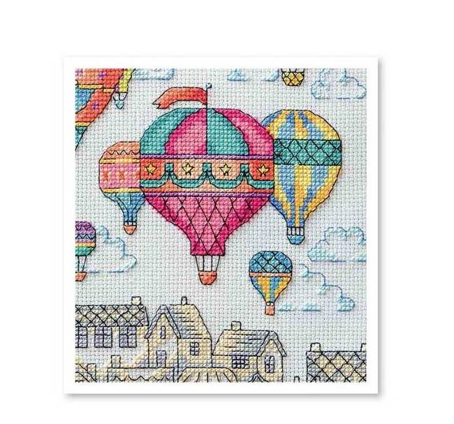 """Вышивка крестом """"Воздушные шары"""""""