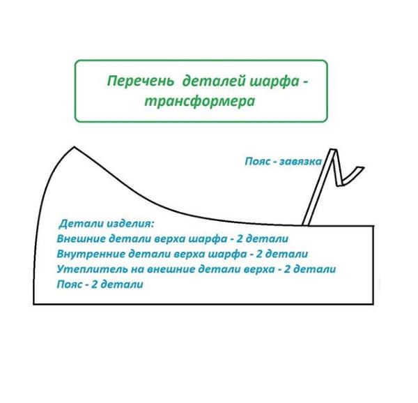 Как сшить шарф-трансформер от GRASSER