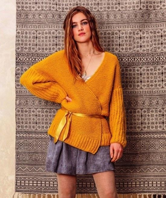 Вязание спицами: кофта-жакет без застежки