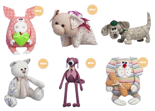 """Пошив игрушек своими руками. Милые зверята от компании """"Малиновый слон"""""""