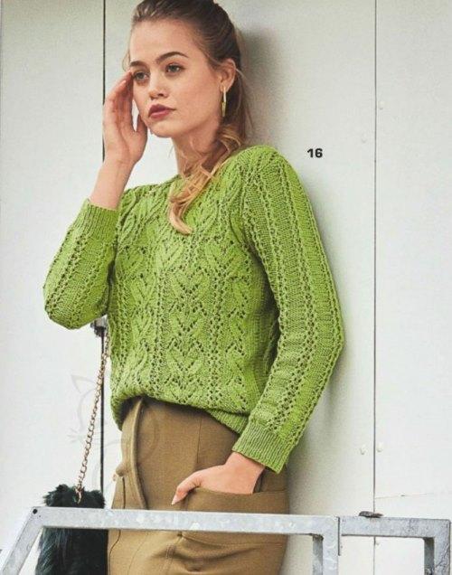 Вязание спицами: ажурный пуловер