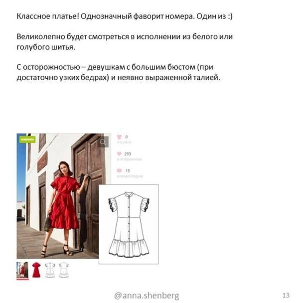 советы от швейного стилиста Анны Шенберг. Удачные модели Бурда 4 2019