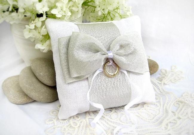 Как сшить подушечку для колец на свадьбу