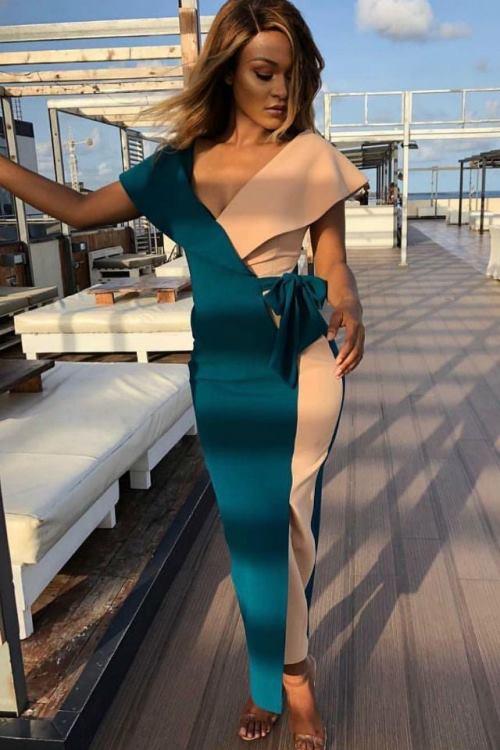 Тренды: Двухцветное платье