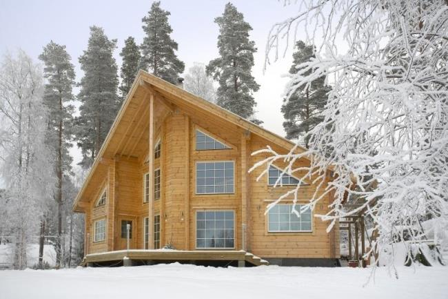 Строительство частного дома в зимнее время
