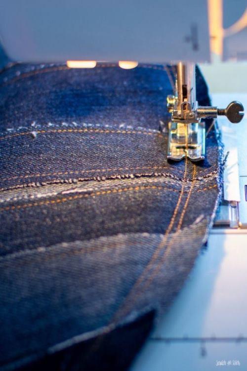 Салфетка из джинса