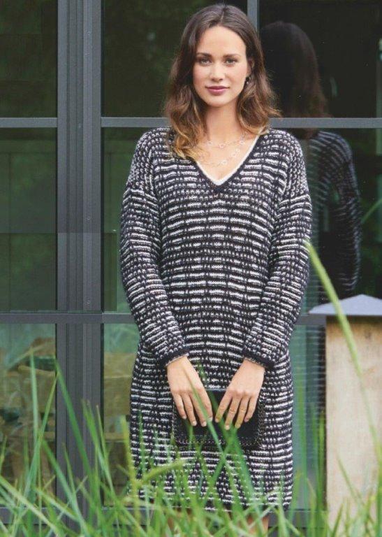 Вязаное платье-пуловер