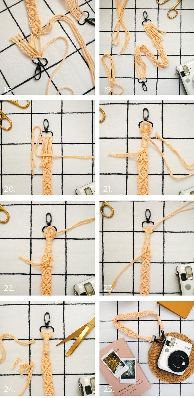 Ремень для фотокамеры в технике макраме