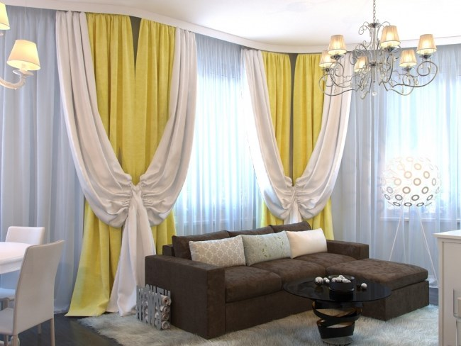 Выбираем шторы в гостиную