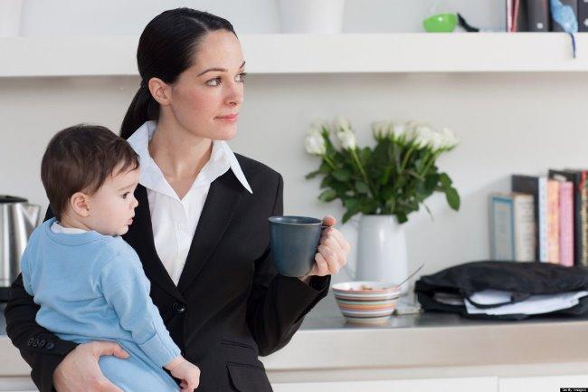 Молодая мама выходит на работу