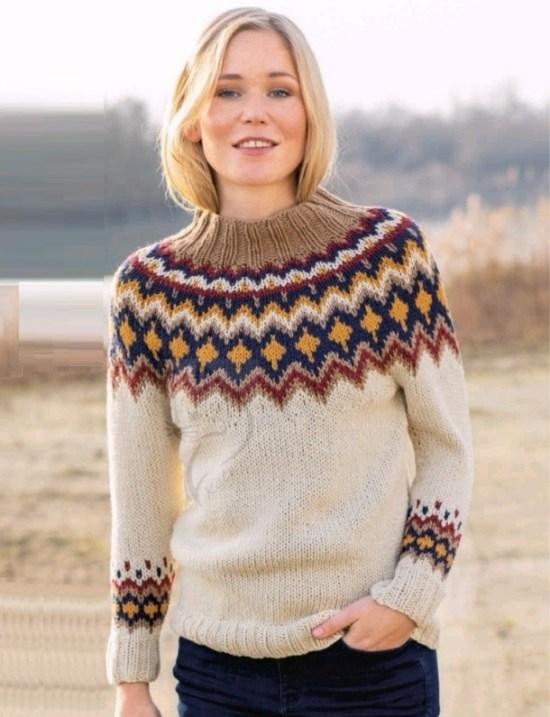 Лопапейса — свитер с красивым норвежским узором