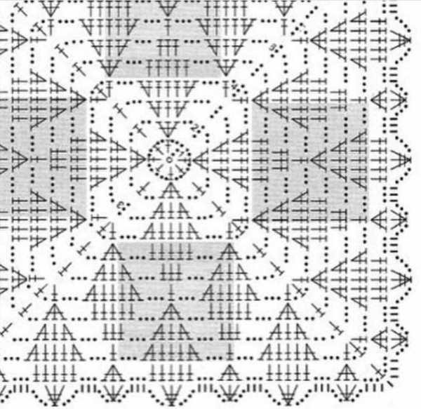 квадратная скатерть крючком