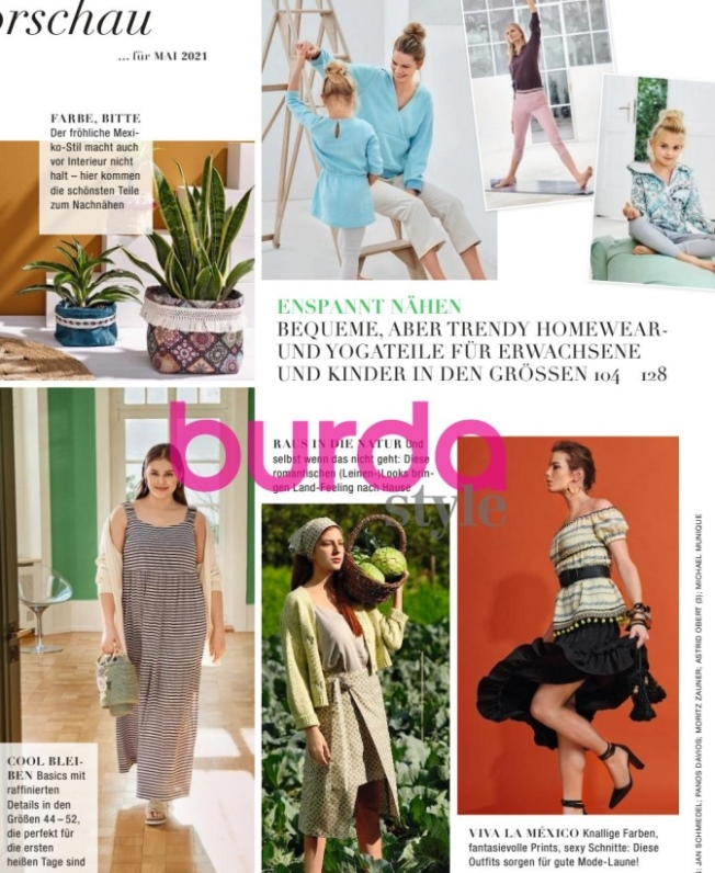 предварительный анонс моделей журнала Бурда № 5 за май 2021 года