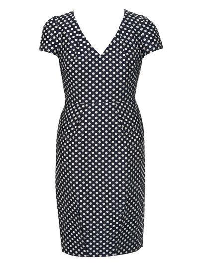 Коллекция.  44, 44 - 52, 52.  Платье-футляр с короткими рукавами идеально...  Выкройка.  Мода plus.