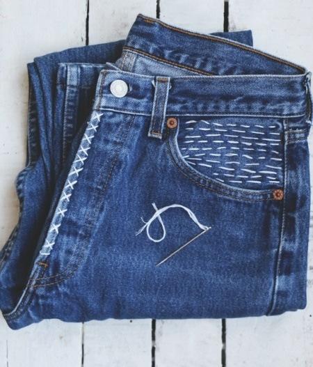 как переделать джинсы, украсить джинсы вышивкой, декор одежды своими руками, переделываем вещи, вышивка,