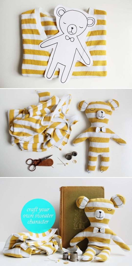 идеи для шитья, переделываем вещи, Игрушки для детей своими руками,