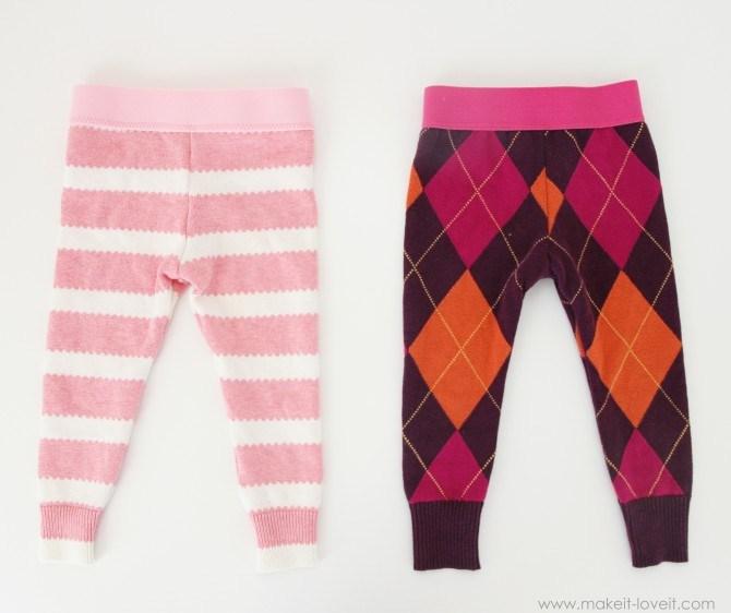 Детские штанишки из ненужного свитера