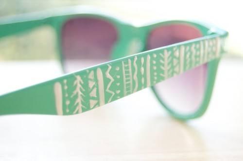 как украсить солнечные очки, необычные солнечные очки, переделываем вещи,