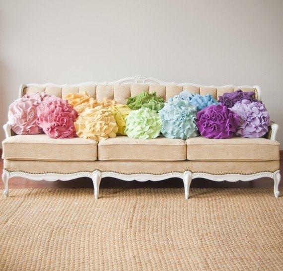 декоративные подушки своими руками, декор для дома,