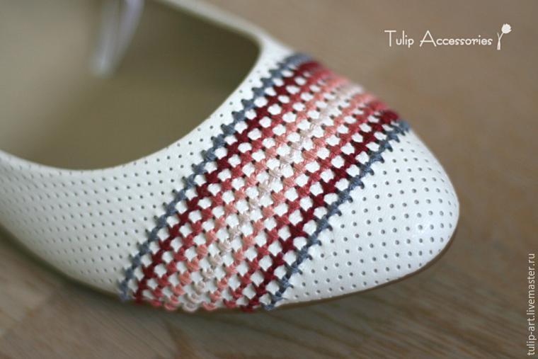как украсит балетки, переделка обуви, обувь своими руками, переделываем вещи, полезное рукоделие,