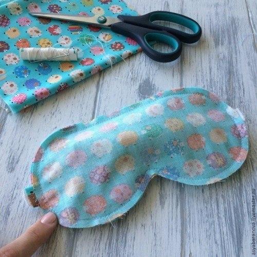 маска для сна, как сшить маску для сна, шитье, полезное рукоделие, полезные мелочи своими руками, шитье своими руками,