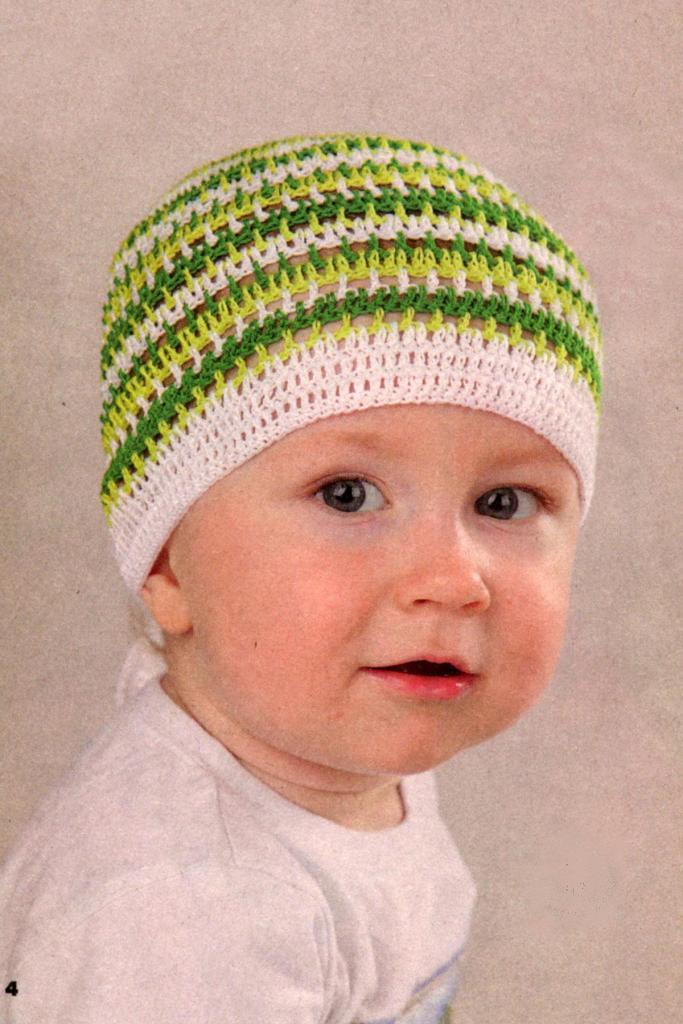 вязаные головные уборы, модели вязания для девочек,