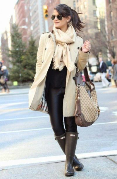 резиновые сапоги HUNTER (Хантер), что носить осенью и зимой, стильный образ, покупки в интернет магазине,