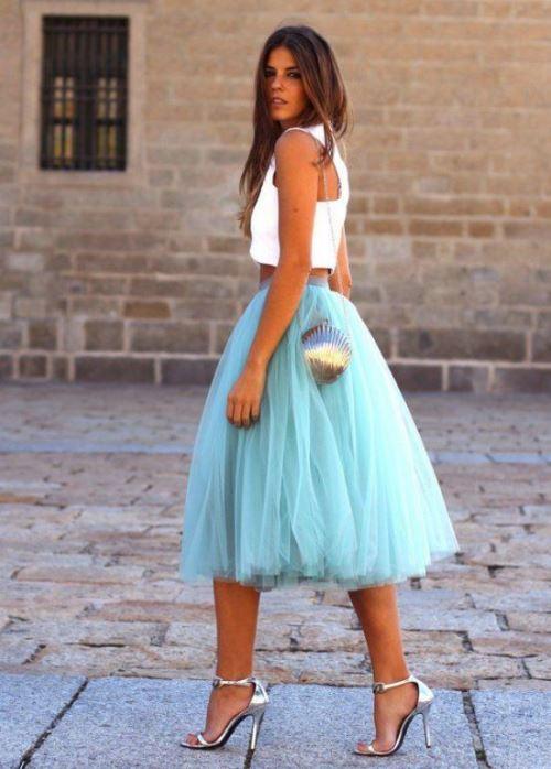 Тюлевая юбка-пачка: с чем носить и как сшить
