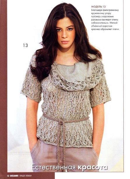 Модели вязания из журнала вязание наше хобб 63