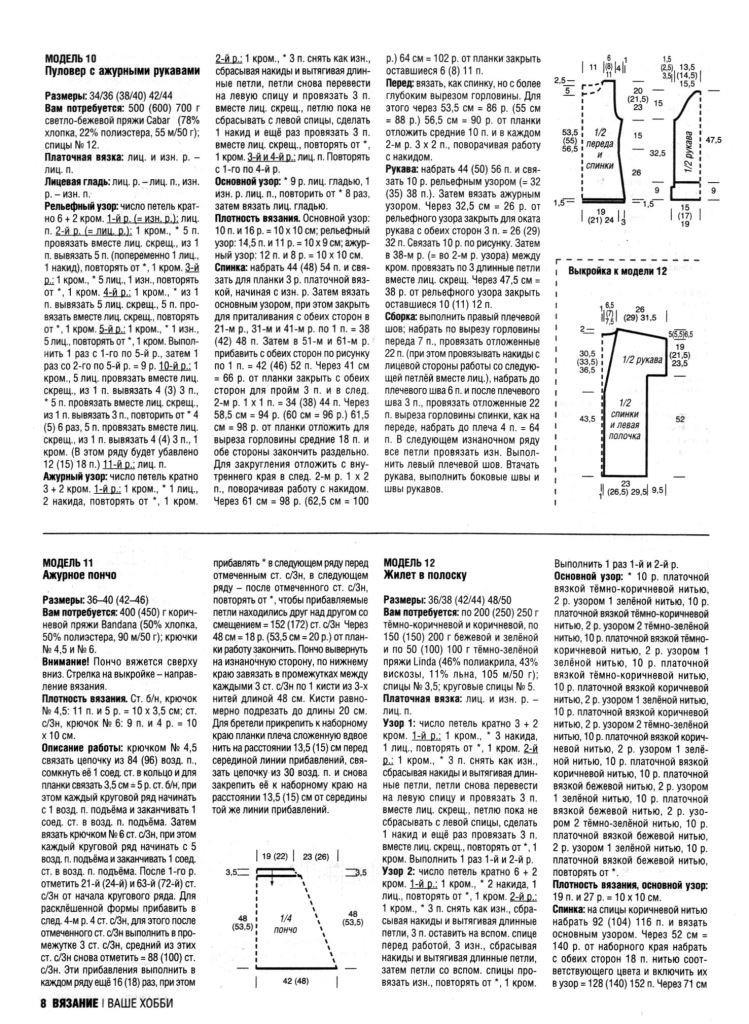 Модели вязания из журнала вязание наше хобб 92
