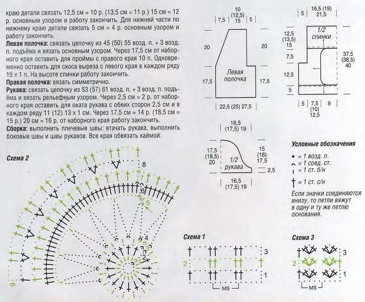 болеро и жилеты, вязание схемы модели для женщин, схемы вязания крючком с описанием,