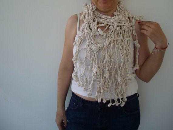 декор одежды, идеи вязания крючком, тенденции моды весна лето, как сделать украшения своими руками, вязаные шарфы схемы,