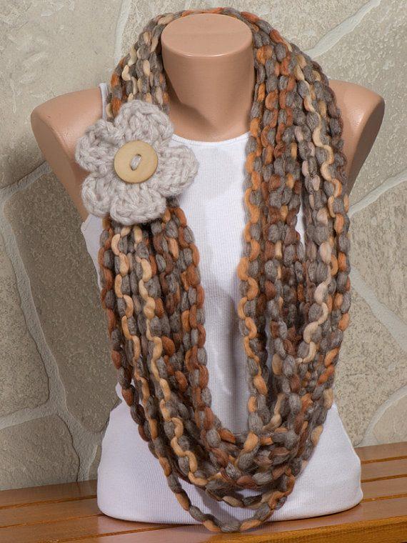 Красивые шарфы своими руками фото