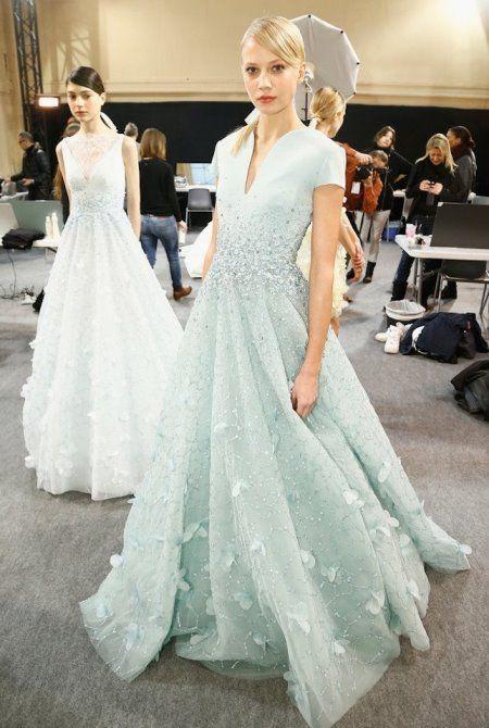 вечерние платья, дизайнерская одежда, модные тенденции, GEORGES HOBEIKA | BACKSTAGE SPRING'15, Джордж Хобейка