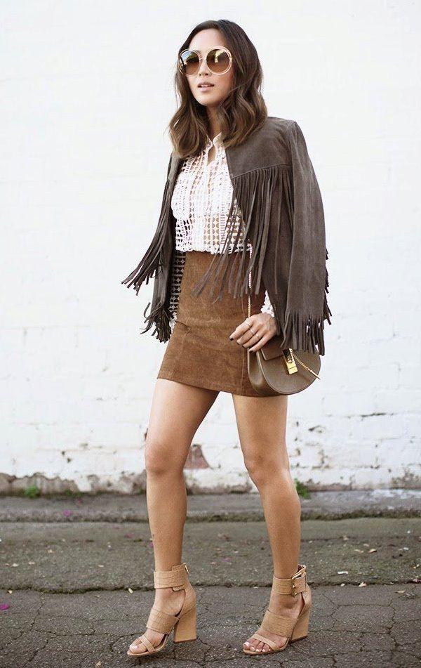 замшевая одежда, одежда из замши, street style, тенденции моды весна лето, что носить весной, что носить летом