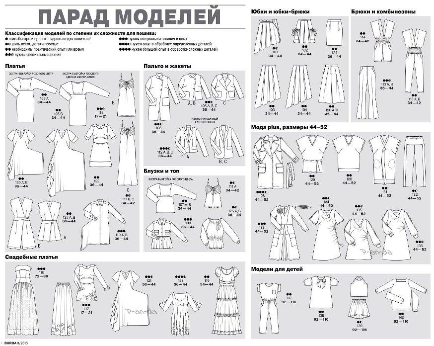 Технические рисунки журнал Бурда март 3 2015